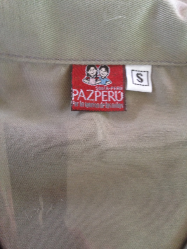 Here is the tag they put on all of the manufactured textiles for branding
