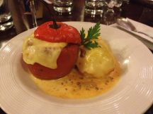 Rocoto Relleno is a pepper stuffed with a beef mixture and topped with melted cheese